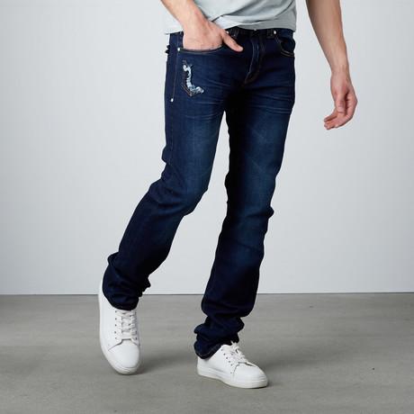 Straight Leg Jean // Indigo (29WX32L)