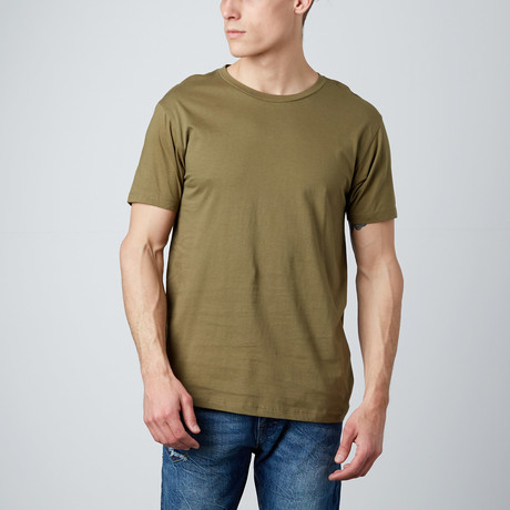Combed Cotton Tee // Military (S)