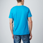 Combed Cotton Tee // Turquoise (S)