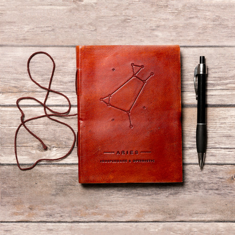 Handmade Leather Journal // Aries
