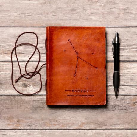 Handmade Leather Journal // Cancer