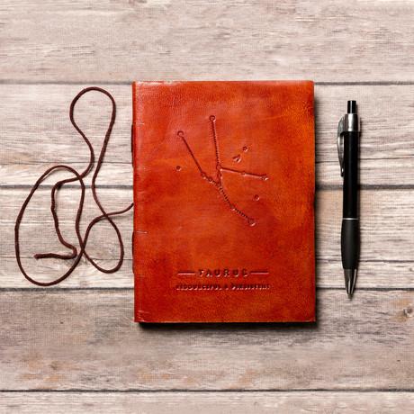 Handmade Leather Journal // Taurus
