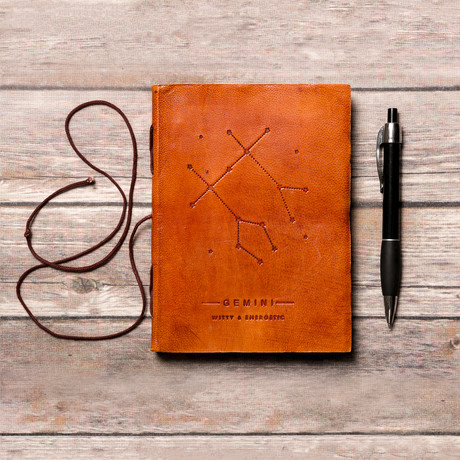 Handmade Leather Journal // Gemini
