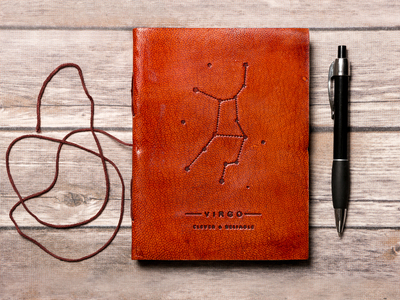 Soothi Horoscope-Inspired Journals Handmade Leather Journal // Virgo by Touch Of Modern - Denver Outlet
