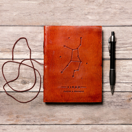 Handmade Leather Journal // Virgo