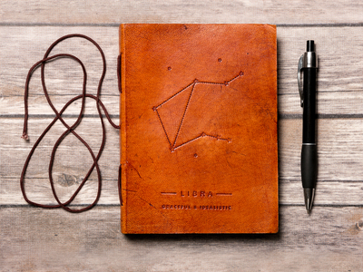 Photo of Soothi Horoscope-Inspired Journals Handmade Leather Journal // Libra by Touch Of Modern