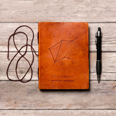 Handmade Leather Journal // Libra