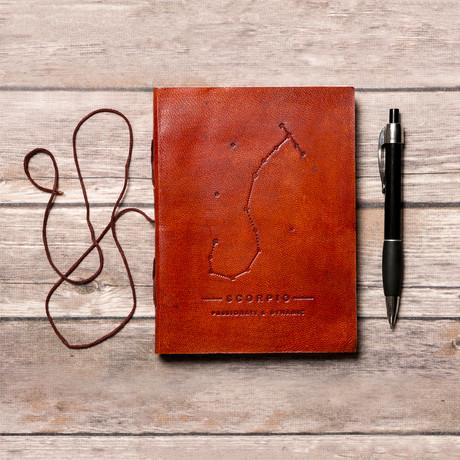 Handmade Leather Journal // Scorpio