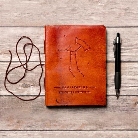 Handmade Leather Journal // Sagittarius