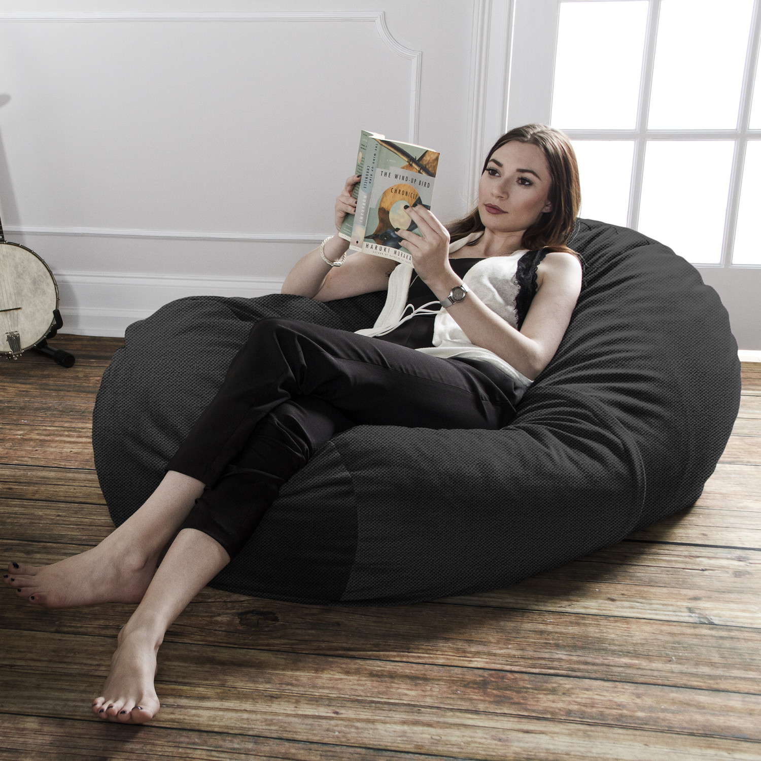 Bean Bag Sofa Black Jaxx Touch of Modern