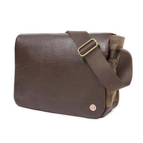 Sheridan Waxed Shoulder Bag // Dark Brown