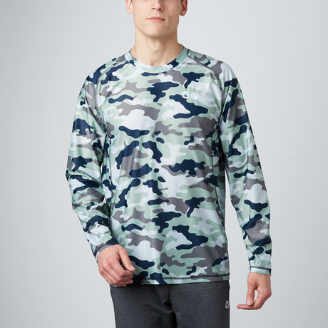 Long-Sleeve Compression Shirt // Brown Camo