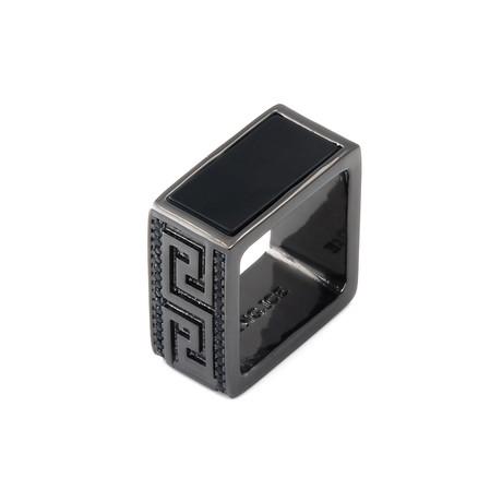 Blackout Onyx Square Ring