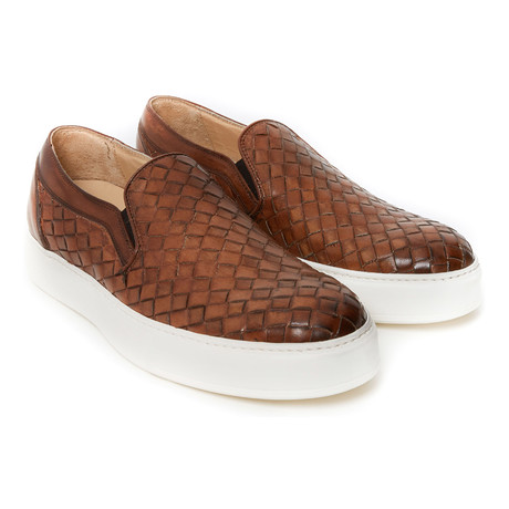 Woven Slip-On Sneaker // Brown