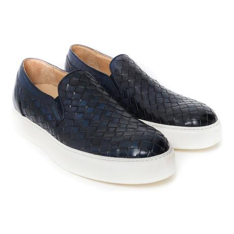 Woven Slip-On Sneaker // Navy