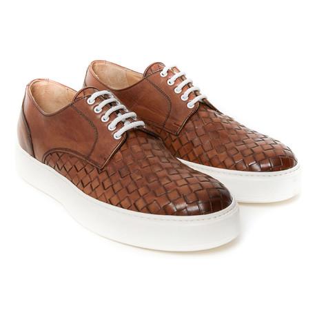 Plain Woven Sneaker // Brown