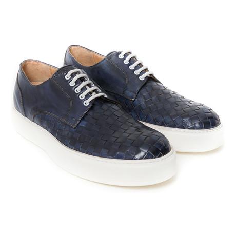 Plain Woven Sneaker // Navy