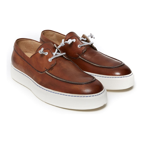 Boat Shoe Sneaker // Brown