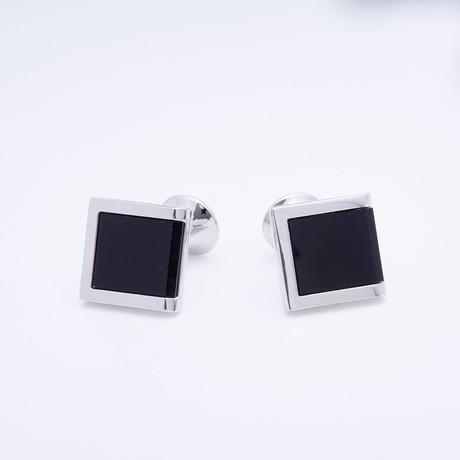 Two-Squared Enamel Cufflink