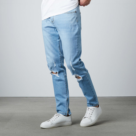 Destroyed Denim // Blue