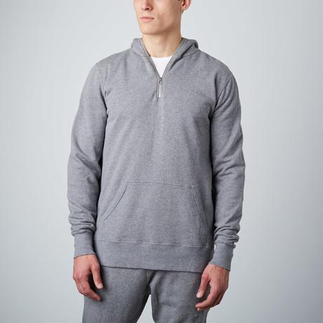 Zip Pullover Hoodie // Grey (S)