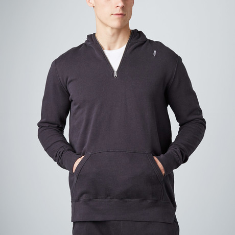 Zip Pullover Hoodie // Black (S)