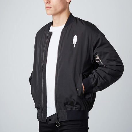 Feather London Bomber // Black (S)
