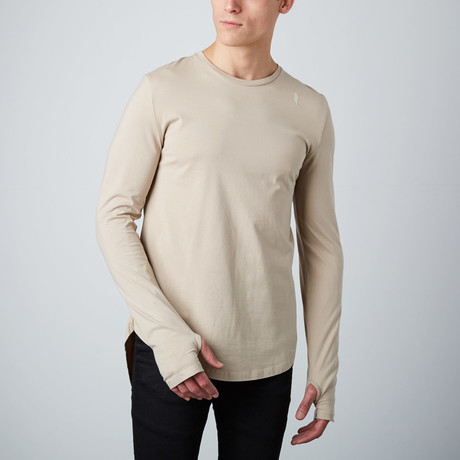 Essential Long Tee // Stone (S)