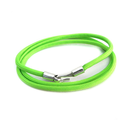 3 Wrap Paracord Bracelet // Lime Green