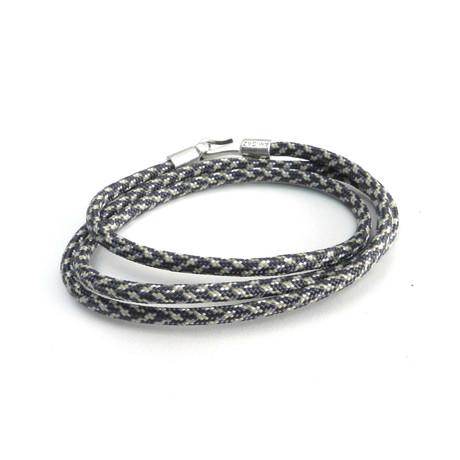 3 Wrap Paracord Bracelet // Brown + Tan
