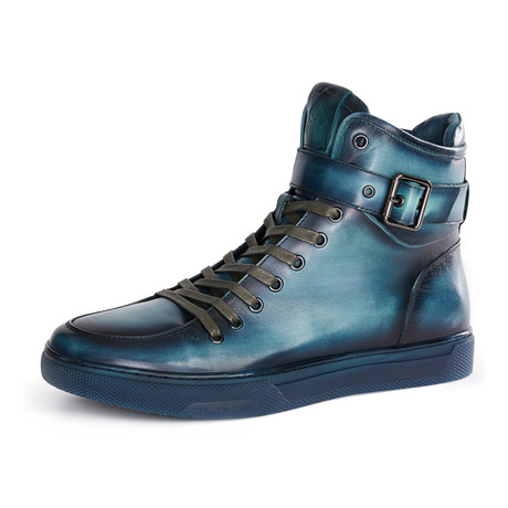 Sullivan High-Top Sneakers // Turquoise
