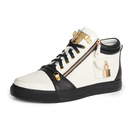 Zappa Mid-Top Sneaker // White + Black