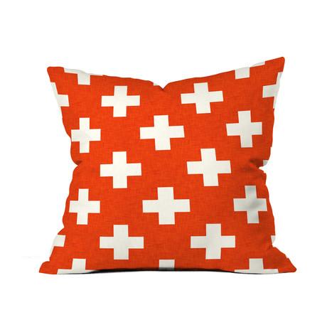 Vermillion Plus // Throw Pillow