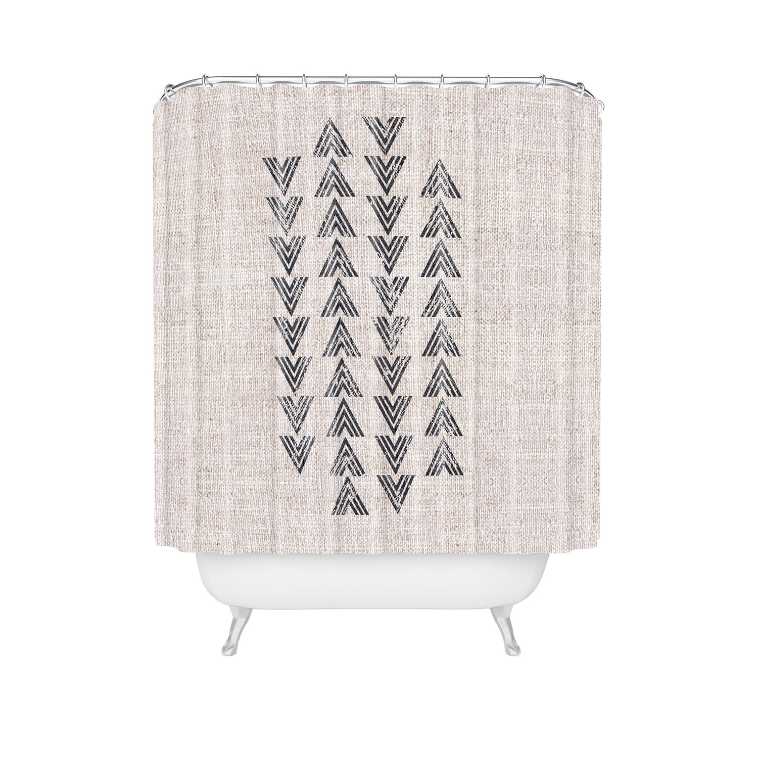 French Linen Tri Arrow Shower Curtain