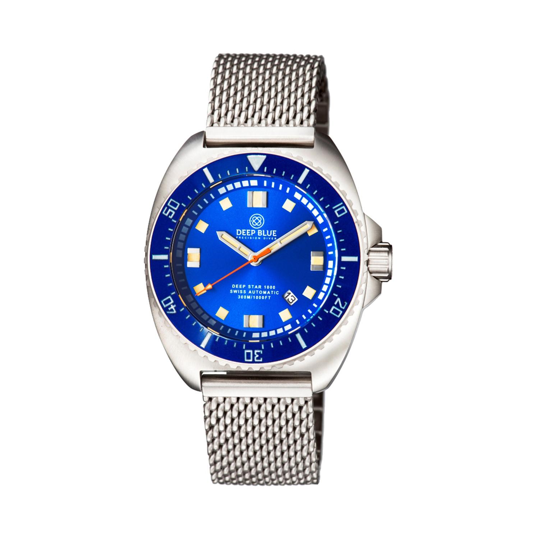 Deep blue deep star diver automatic dstarbraceblue - Dive deep blue ...