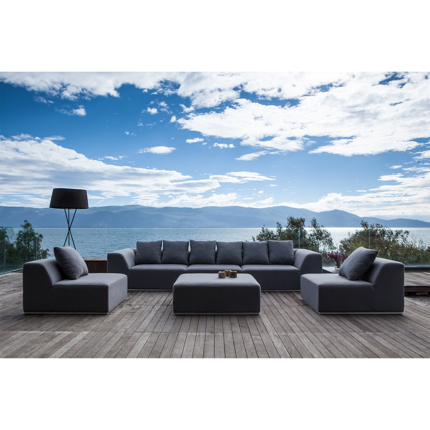 Buddha Sofa Set // 4 Piece - Maze Lounge - Touch of Modern