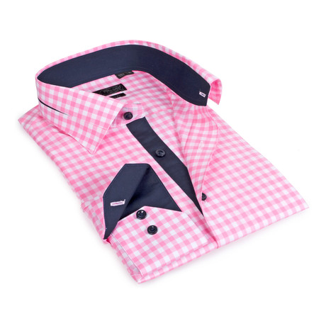 Gingham Button-Up // Pink