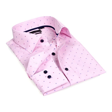 Squared Button-Up // Pink (S)