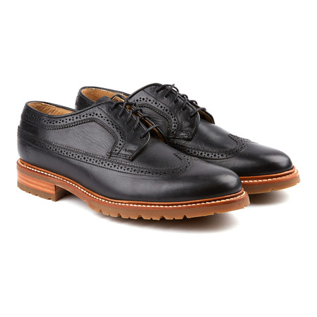 James Lug Wingtip Derby // Black (US: 8)