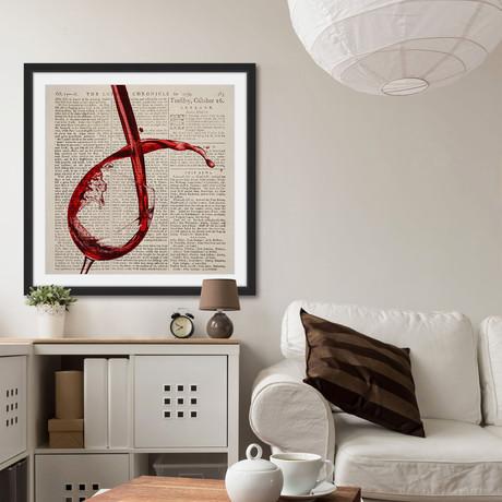 Red Wine Splash // Framed Canvas