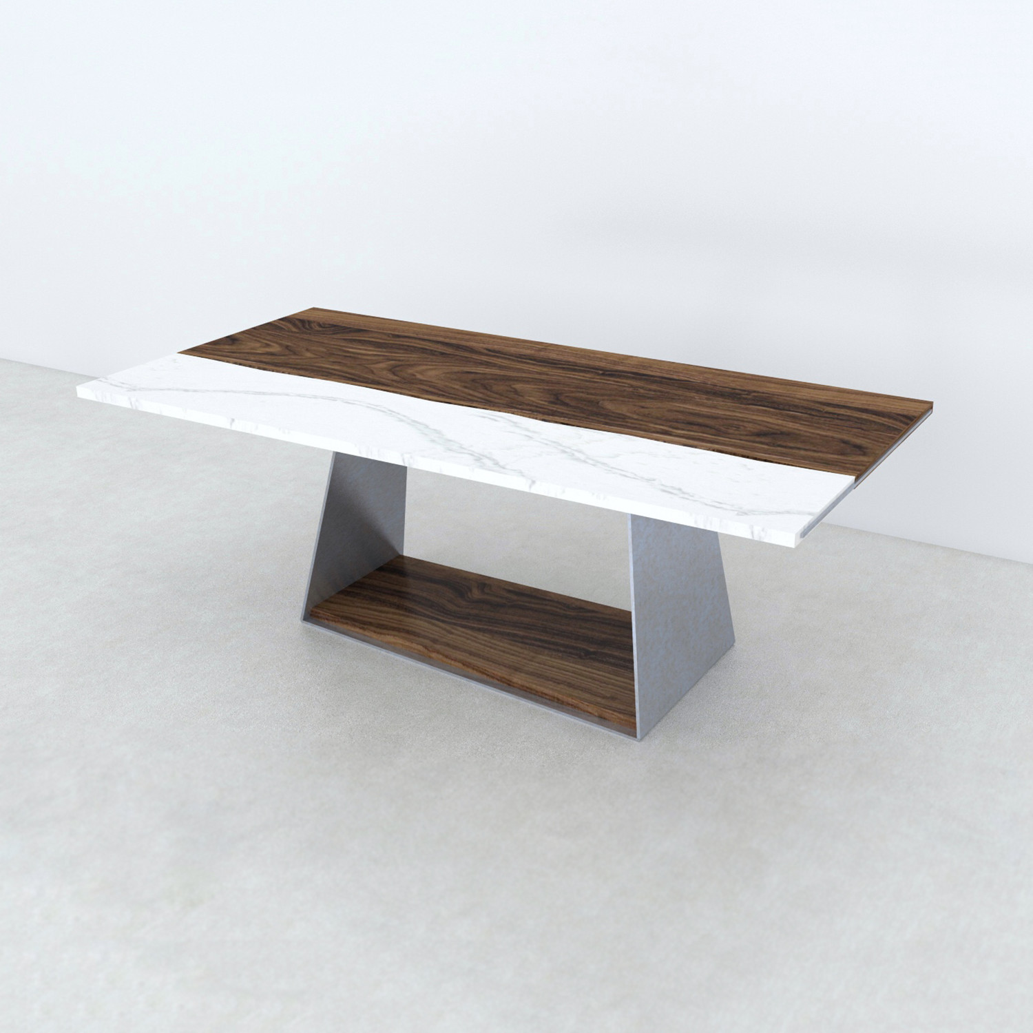 dining table live edge black walnut cambria quartz. Black Bedroom Furniture Sets. Home Design Ideas