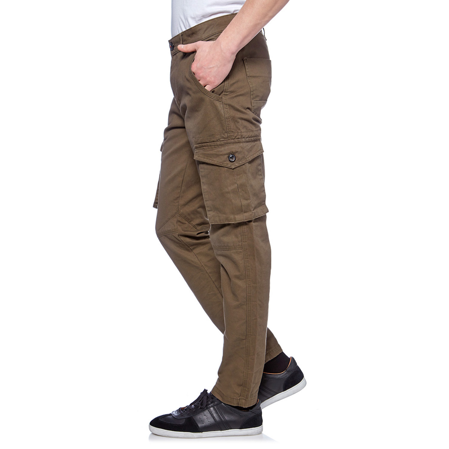 Exactly what I was hoping for--a good slim-fitting cargo pant without being too tight. The 36x32 size was perfect for me (6' 1/2