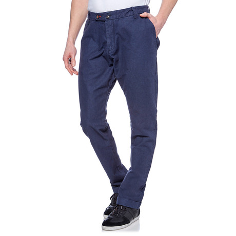 Straight Leg Cuffed Trouser // Denim