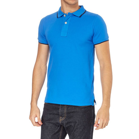 Contrast Ribbed Polo // Royal