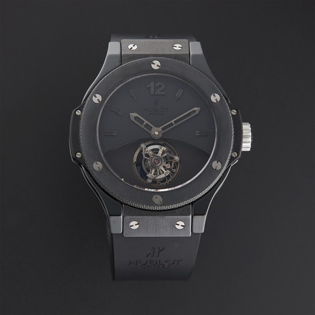 Hublot Big Bang Black Tourbillon Manual Wind // Limited Edition // 305.CM.134.RX // Pre-Owned