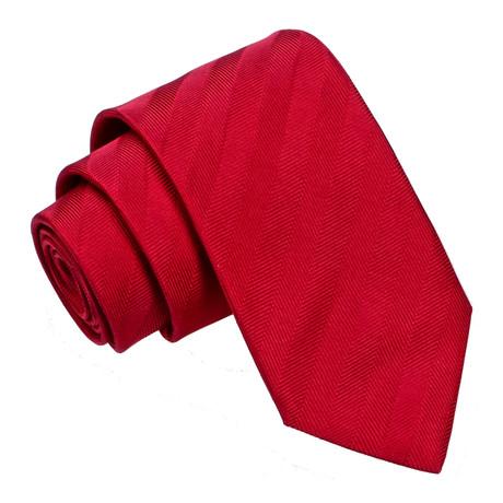 Stripe Tie // Red