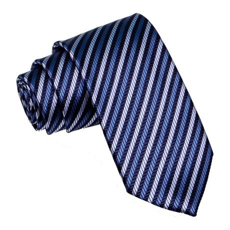 Stripe Tie // Blue + Steel