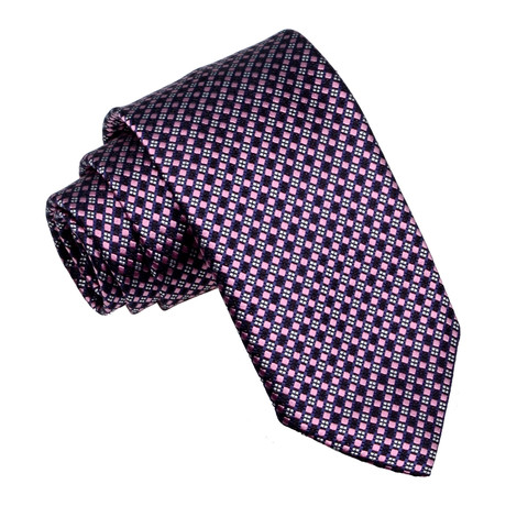 Crosshatch Tie // Burgundy + Pink