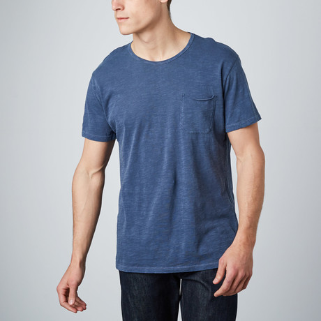 Raw Pocket Crewneck Shirt // Navy Pigment