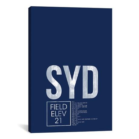 "Sydney (Kingsford Smith) // 08 Left (26""W x 40""H x 1.5""D)"